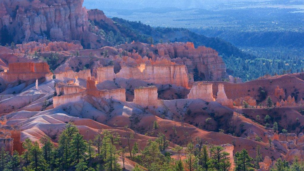 Sunrise Point mostrando un barranco o cañón, escenas tranquilas y vistas al desierto
