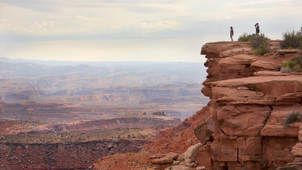 Moab featuring views, a gorge or canyon and hiking or walking