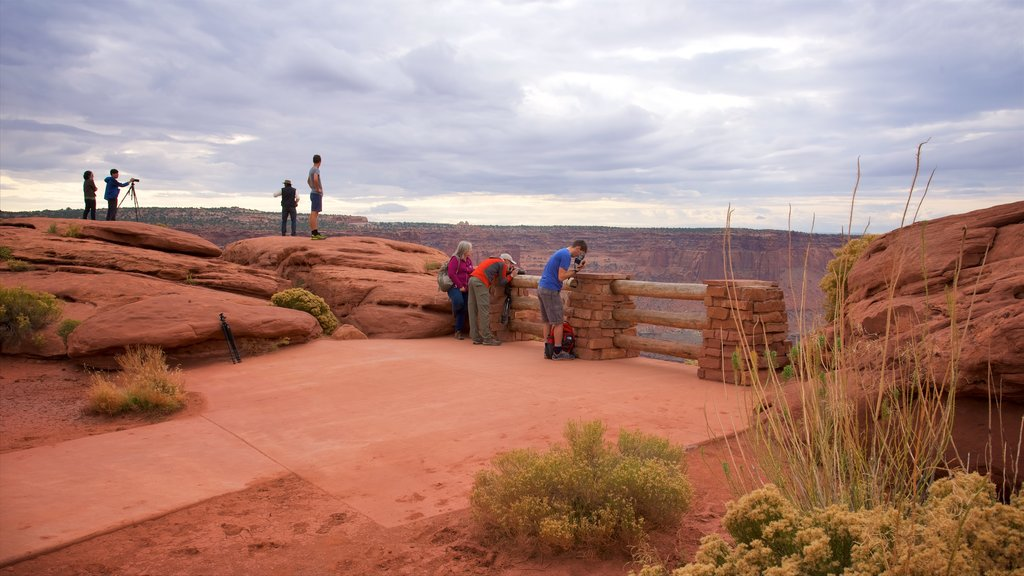 Green River Overlook featuring landscape views, views and a gorge or canyon