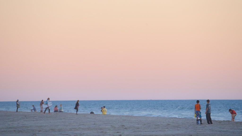 Ventura featuring a sunset, a beach and general coastal views
