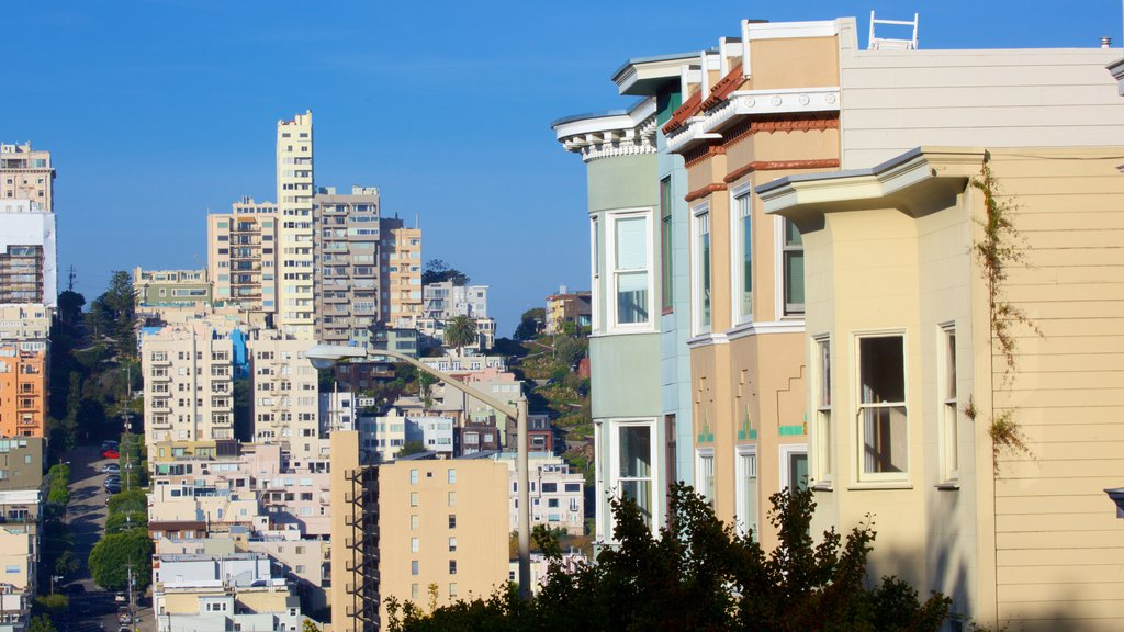 North Beach showing a city
