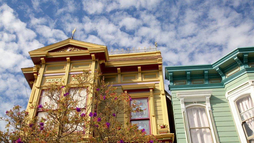 Western Addition caracterizando arquitetura de patrimônio e uma casa