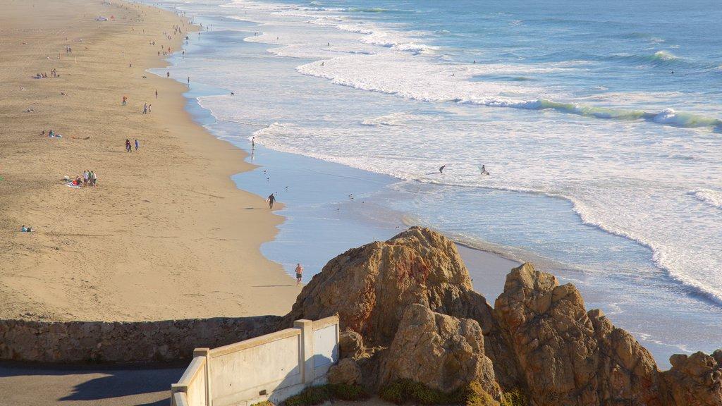 Ocean Beach featuring landscape views, views and a sandy beach