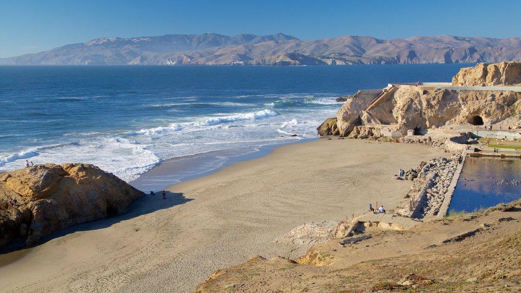 Playa Ocean mostrando una playa de arena, vistas generales de la costa y una alberca