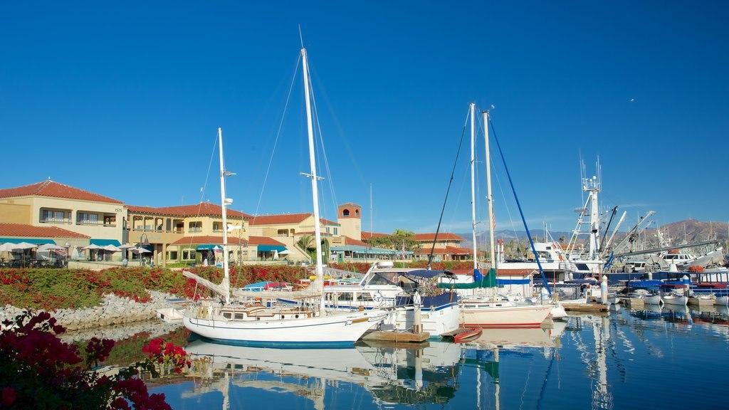 Ventura Harbor showing a marina