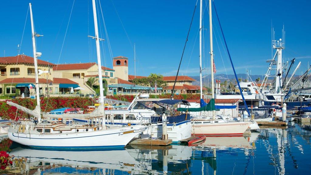 Ventura Harbor which includes a marina