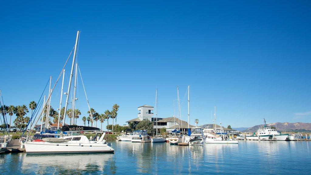Ventura Harbor featuring a marina