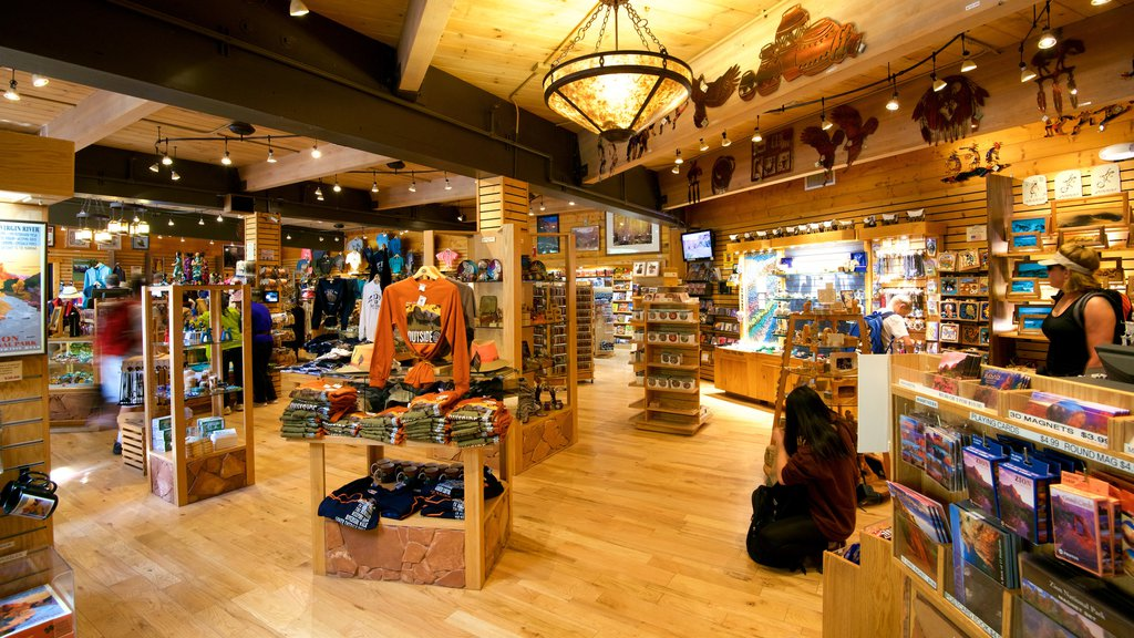 Zion National Park featuring shopping and interior views
