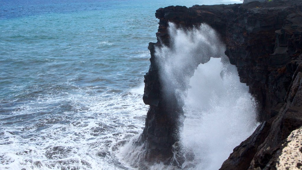 Hilo featuring rugged coastline