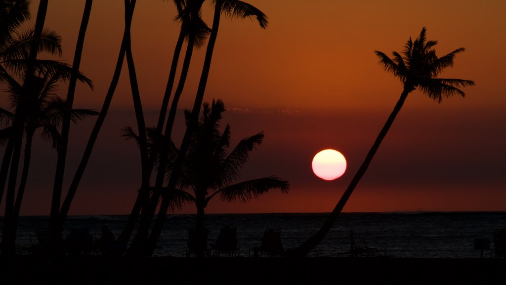 Hawaii featuring a sunset