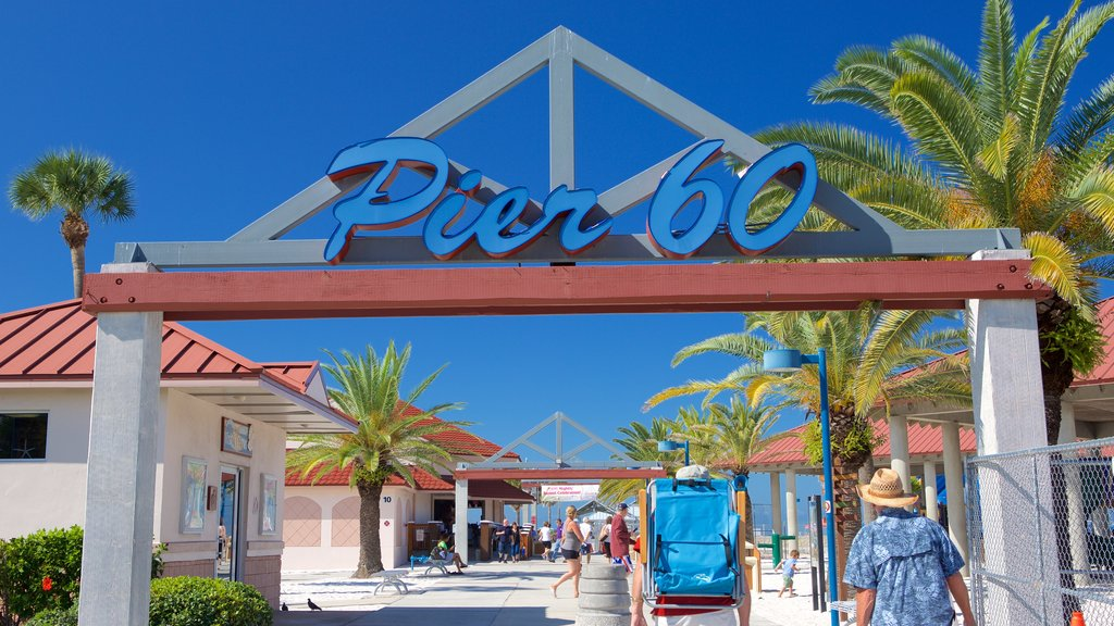 Pier 60 Park showing signage