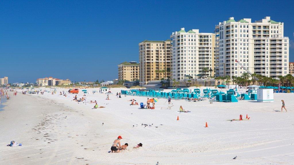 Clearwater Beach featuring a beach and a coastal town