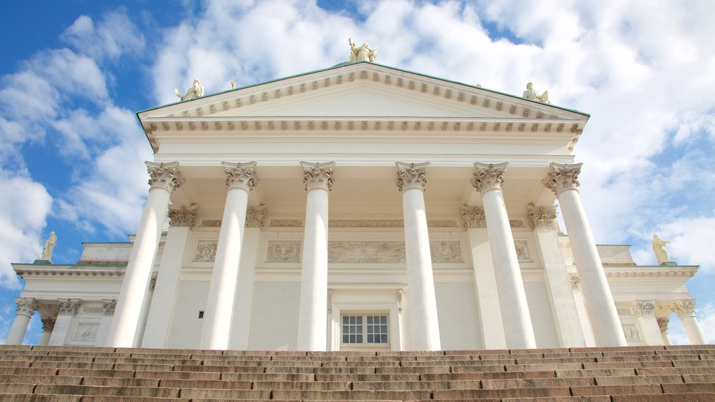 Helsinki Cathedral showing a church or cathedral