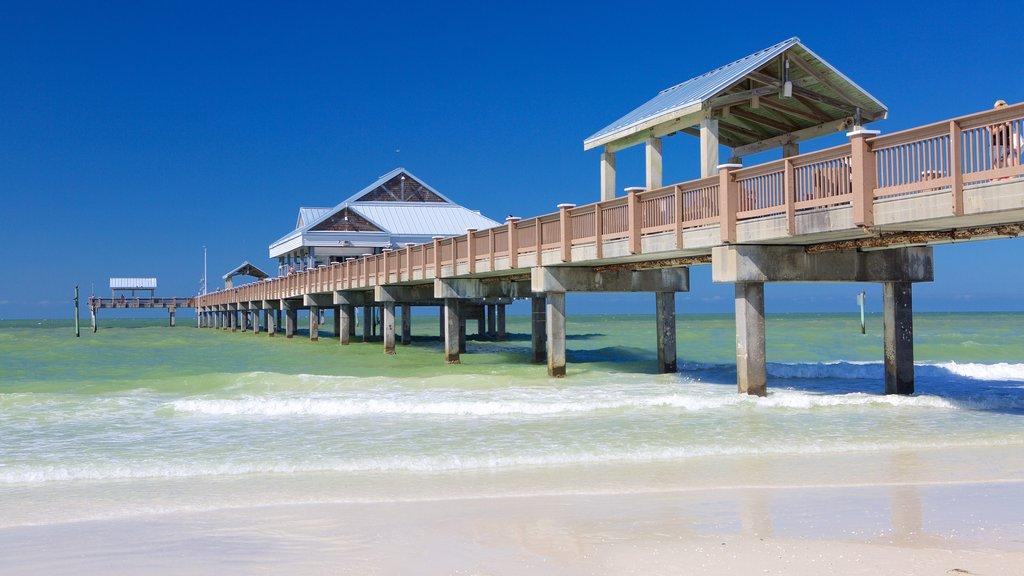 Pier 60 Park showing a beach and general coastal views