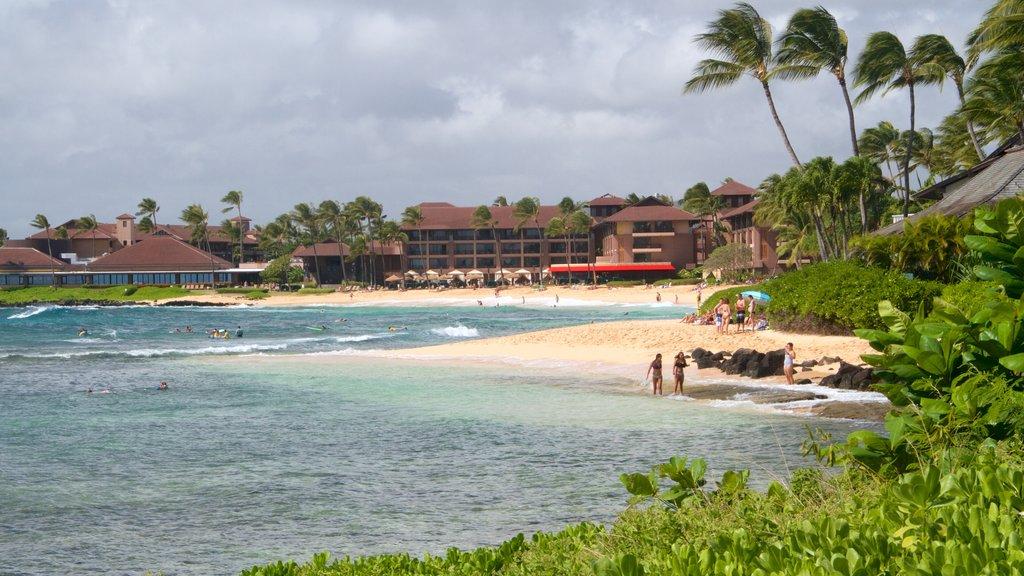 Koloa showing a sandy beach