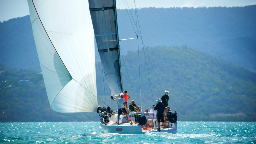 Airlie Beach featuring sailing as well as a small group of people