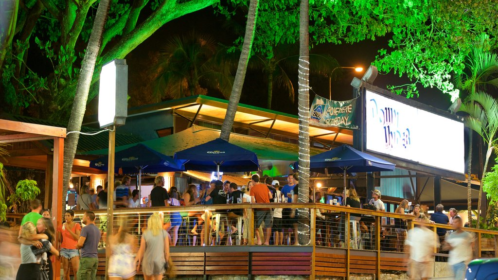 Airlie Beach featuring dining out, a beach bar and nightlife