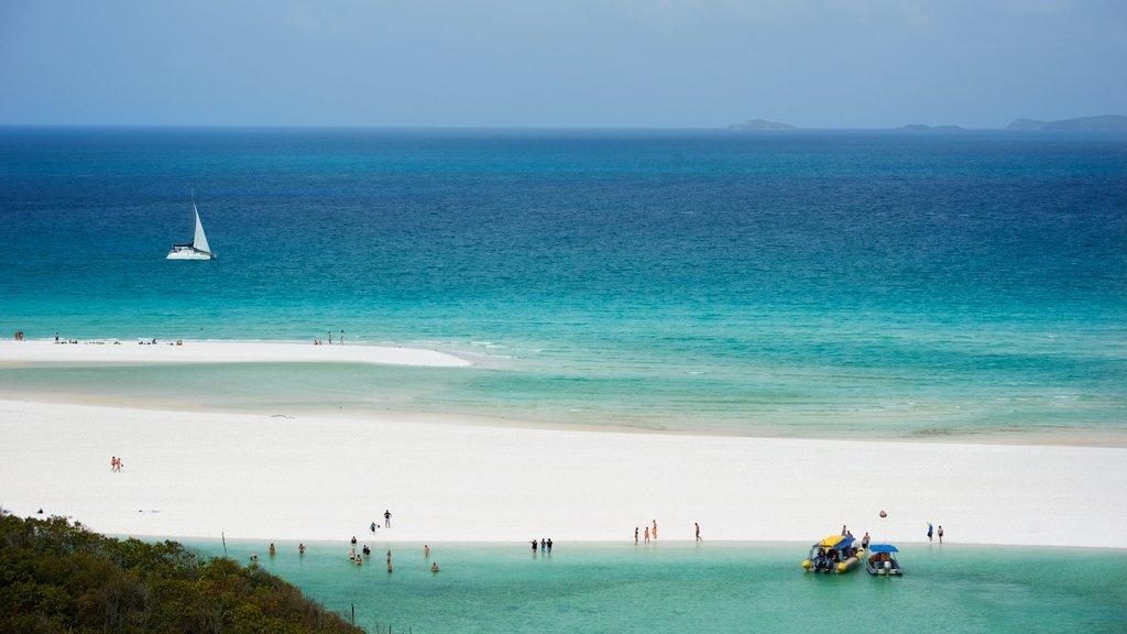 Hamilton Island which includes a beach and landscape views