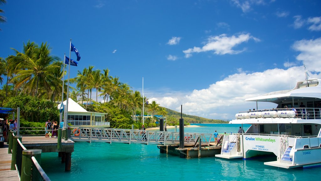 Daydream Island featuring general coastal views, tropical scenes and a ferry