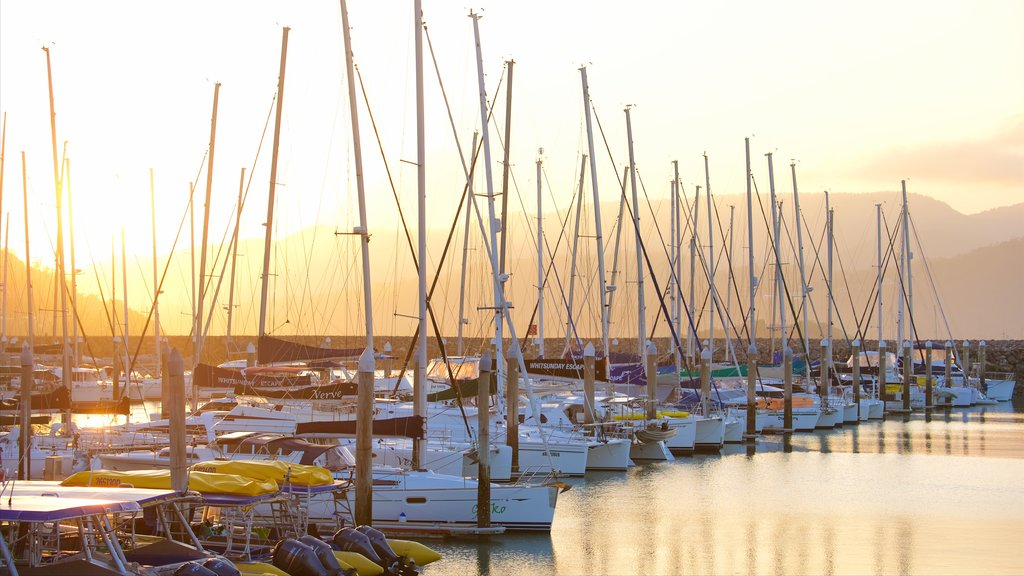Abell Point Marina featuring a bay or harbor, sailing and boating