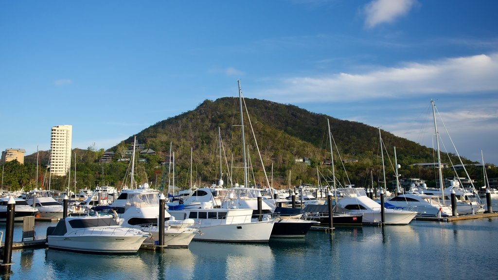 Hamilton Island Marina which includes a bay or harbor, general coastal views and sailing