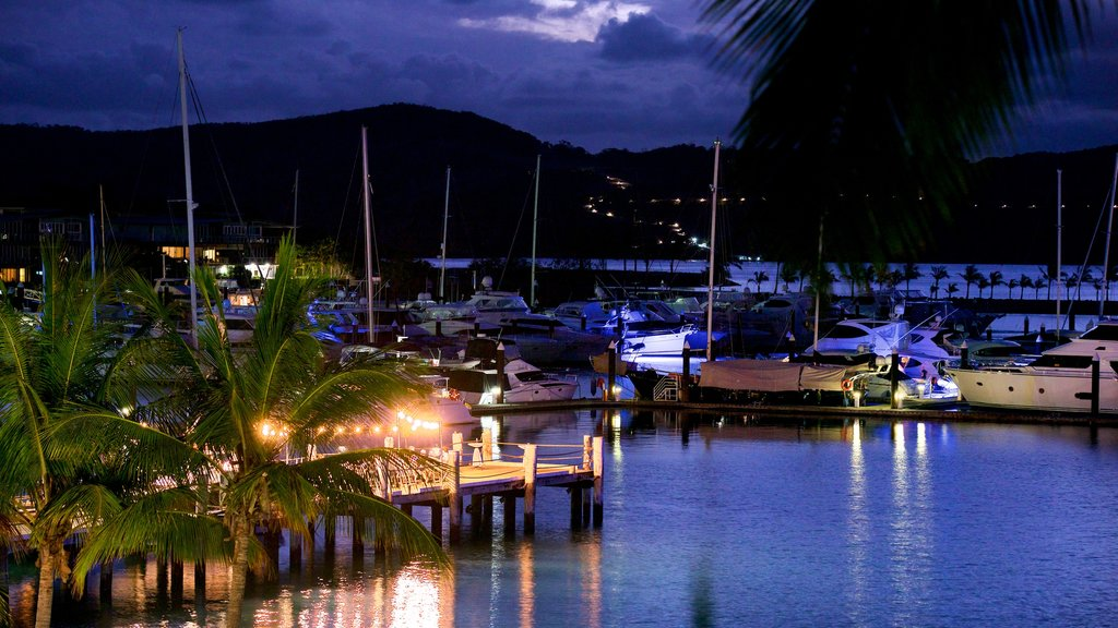 Hamilton Island Marina which includes a bay or harbor, general coastal views and boating