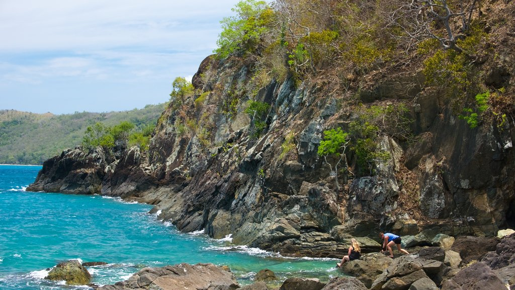 Lovers Cove featuring general coastal views and rugged coastline