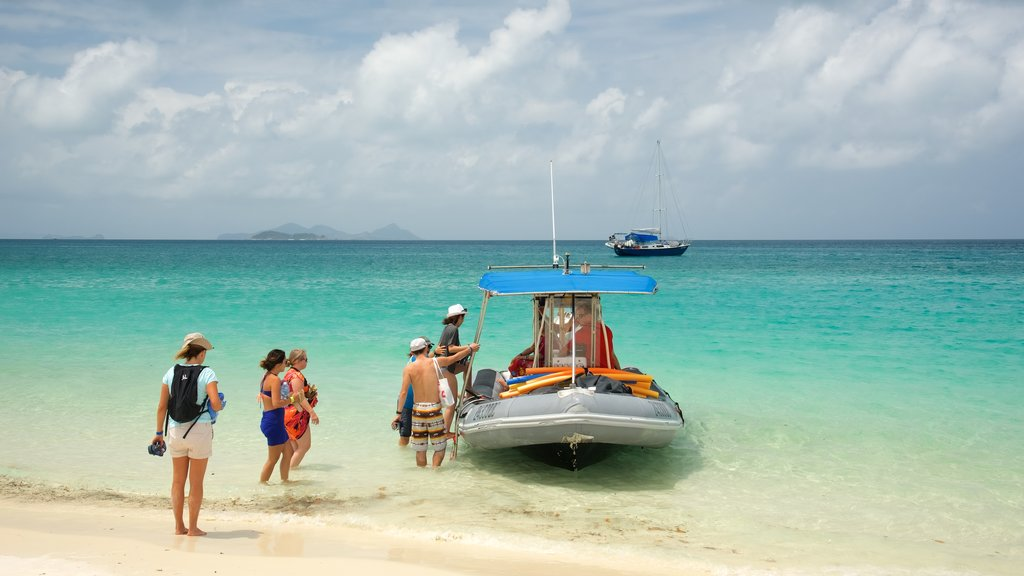 Whitsunday Island which includes boating, a sandy beach and general coastal views