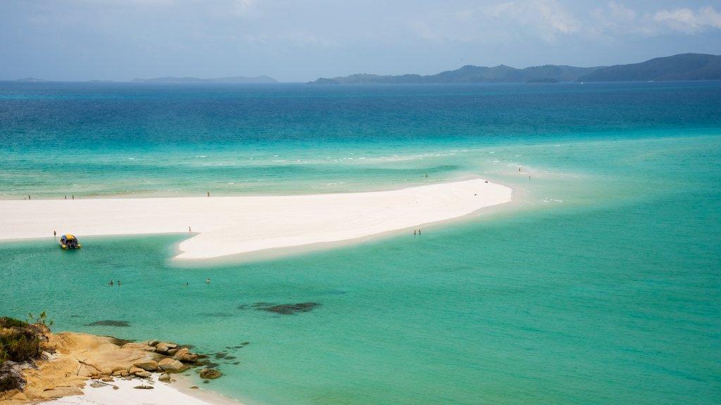 Hamilton Island which includes a sandy beach, general coastal views and landscape views