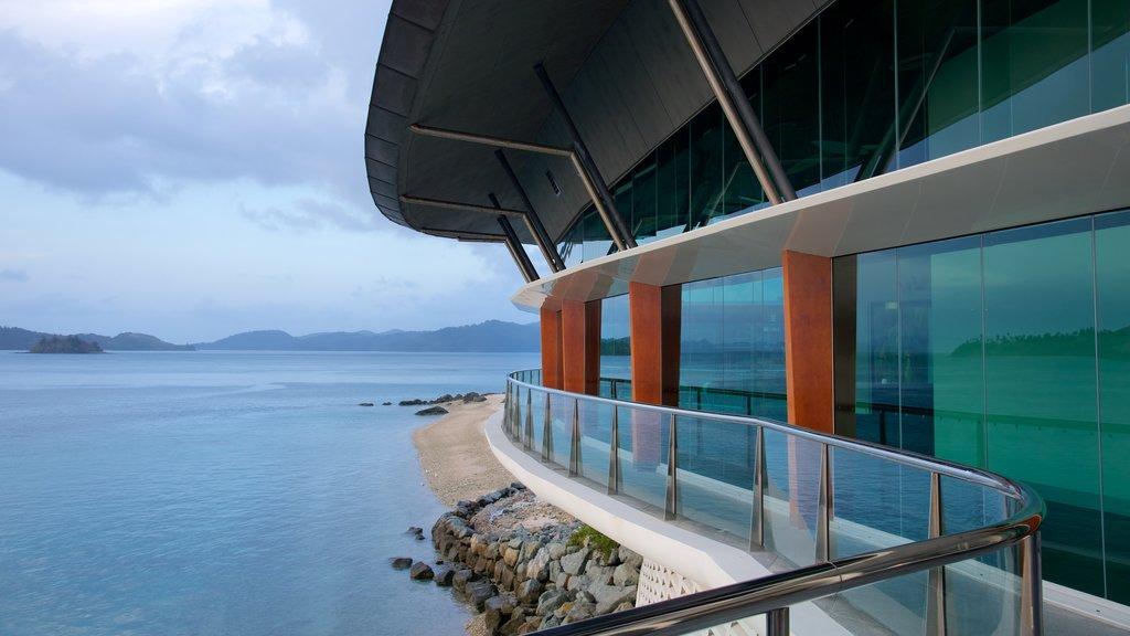 Hamilton Island featuring general coastal views and modern architecture