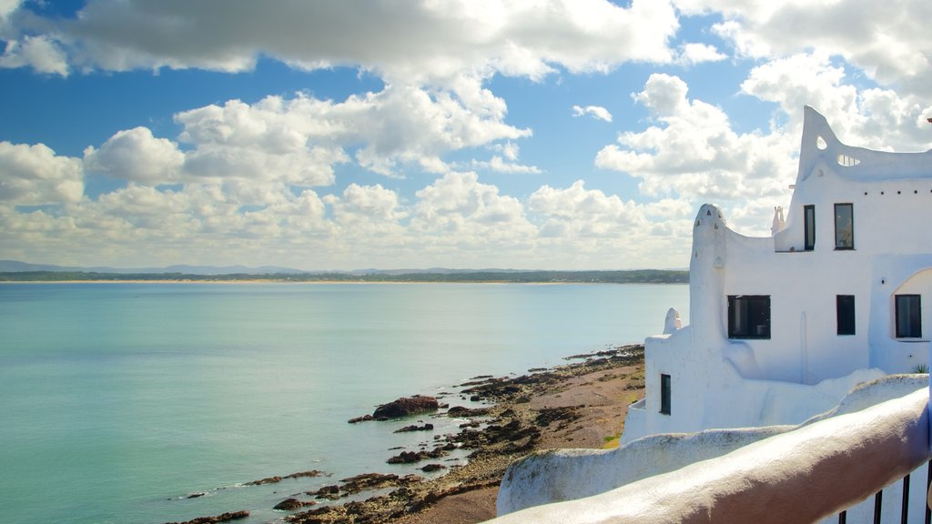 Punta Ballena featuring landscape views, general coastal views and heritage architecture
