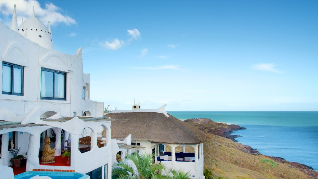 Punta Ballena which includes general coastal views and heritage architecture
