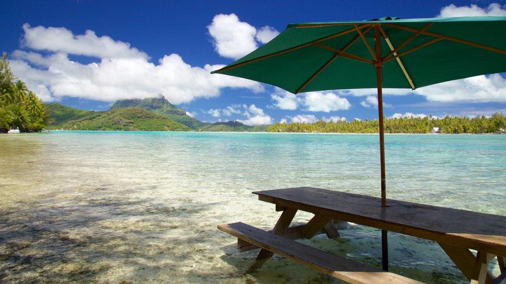 Bora Bora que incluye escenas tropicales, vistas de paisajes y vistas generales de la costa