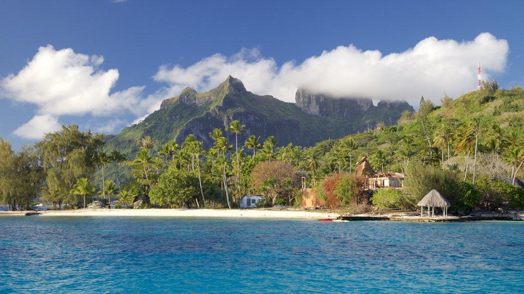 Bora Bora que incluye vistas generales de la costa, vistas de paisajes y una playa