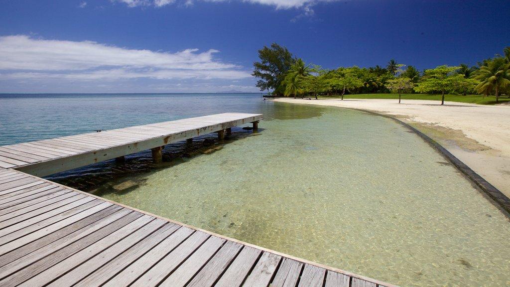 Opoa ofreciendo vistas generales de la costa y vistas de paisajes
