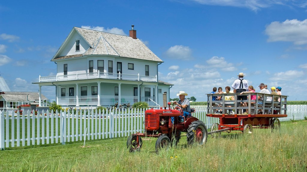 York mostrando turismo en vehículo, tierras de cultivo y una casa