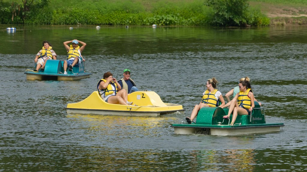 Lincoln which includes a river or creek and watersports as well as a small group of people
