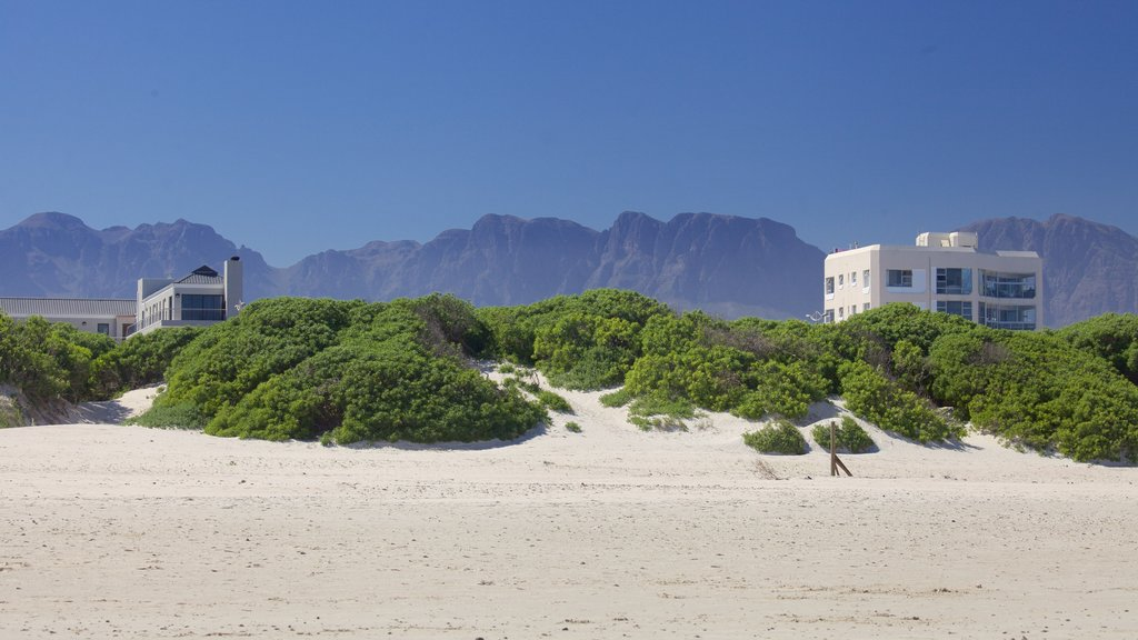 Strand which includes a sandy beach and landscape views