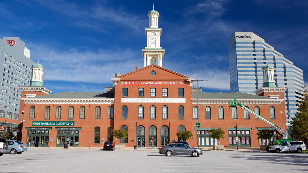 Museo Sports Legends Museum at Camden Yards que incluye patrimonio de arquitectura