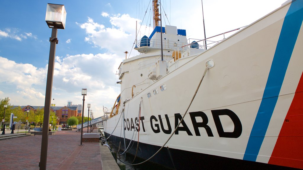 USCGC Taney featuring a marina