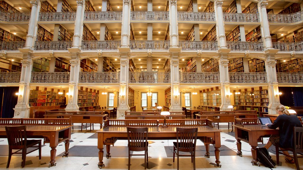 Peabody Institute of the John Hopkins University featuring heritage elements, interior views and heritage architecture