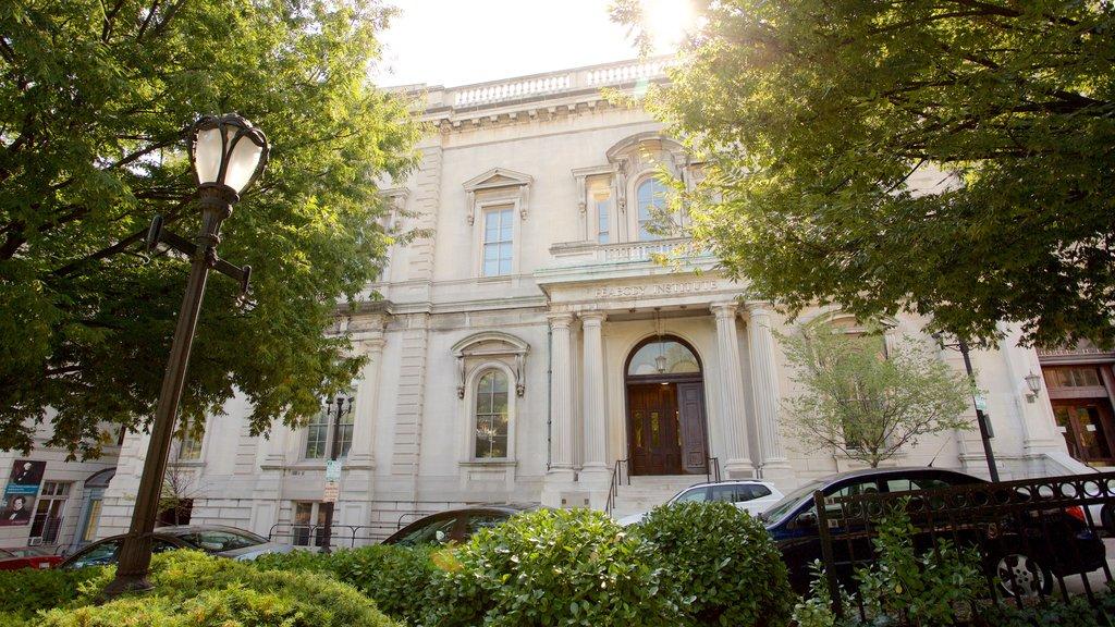 Peabody Institute of the John Hopkins University showing heritage architecture