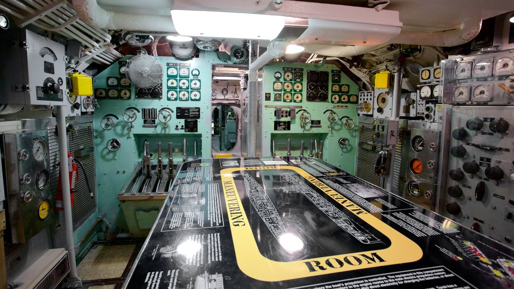 USS Torsk showing interior views