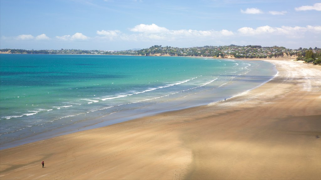 Orewa which includes a beach and a bay or harbor