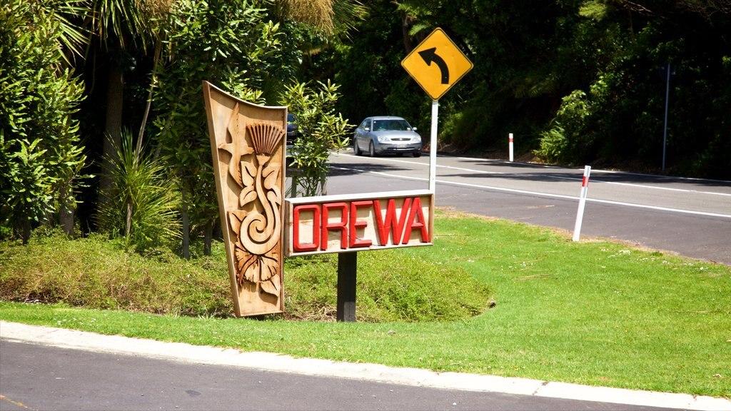 Orewa featuring signage