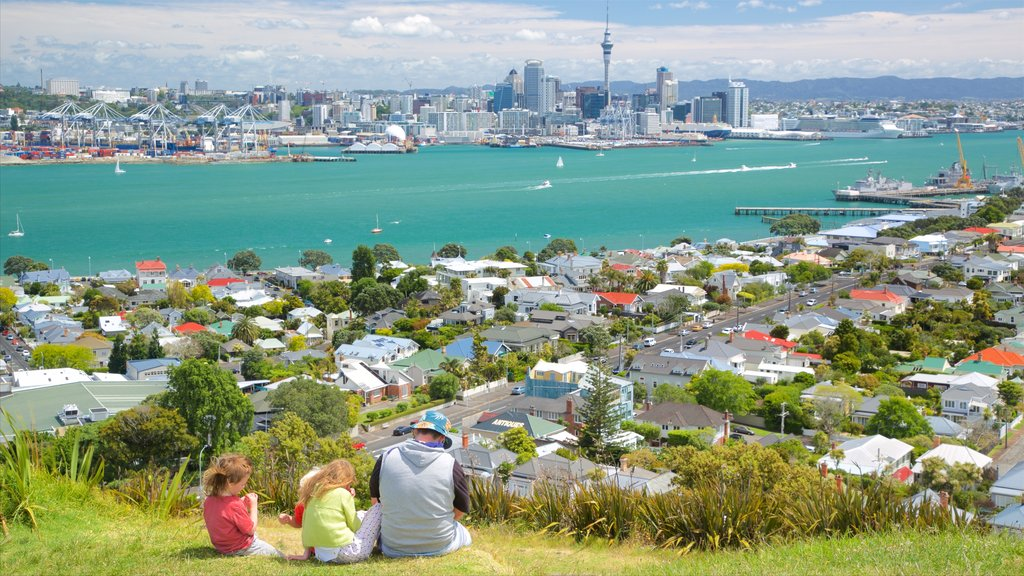 Mount Victoria showing city views, a bay or harbor and a city