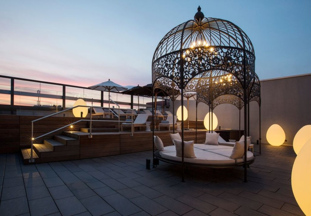 rooftop terrace of hotel kameha grand zurich, autograph collection