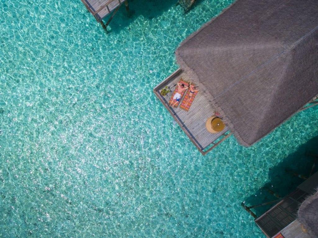 aerial view of a bungalow at Meeru Island Resort & Spa