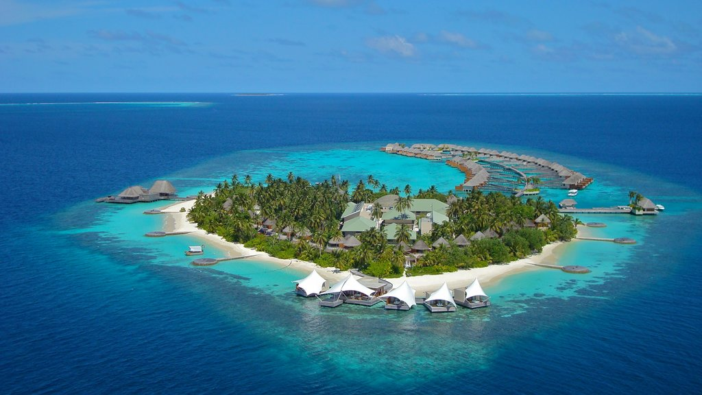 Maldives featuring island images and a luxury hotel or resort