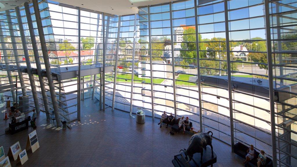 Christchurch Art Gallery mostrando vistas interiores